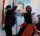 Hungarian performers at opening of the exhibition